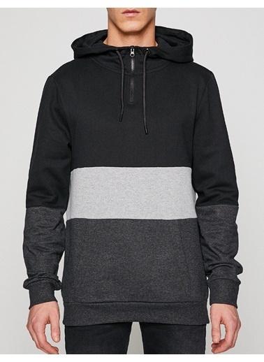 Koton Kapüşonlu Sweatshirt Siyah